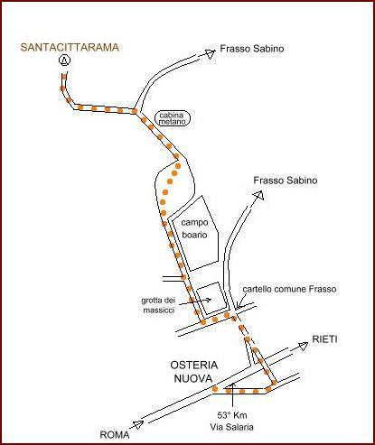 Arrivare al Santacittarama - mappa